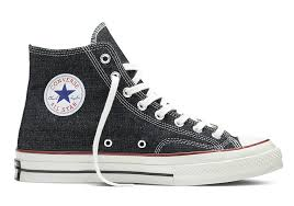Picture of a black Converse Chuck Taylor shoes