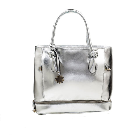 Be Brilliant Bags Silver Body Tote