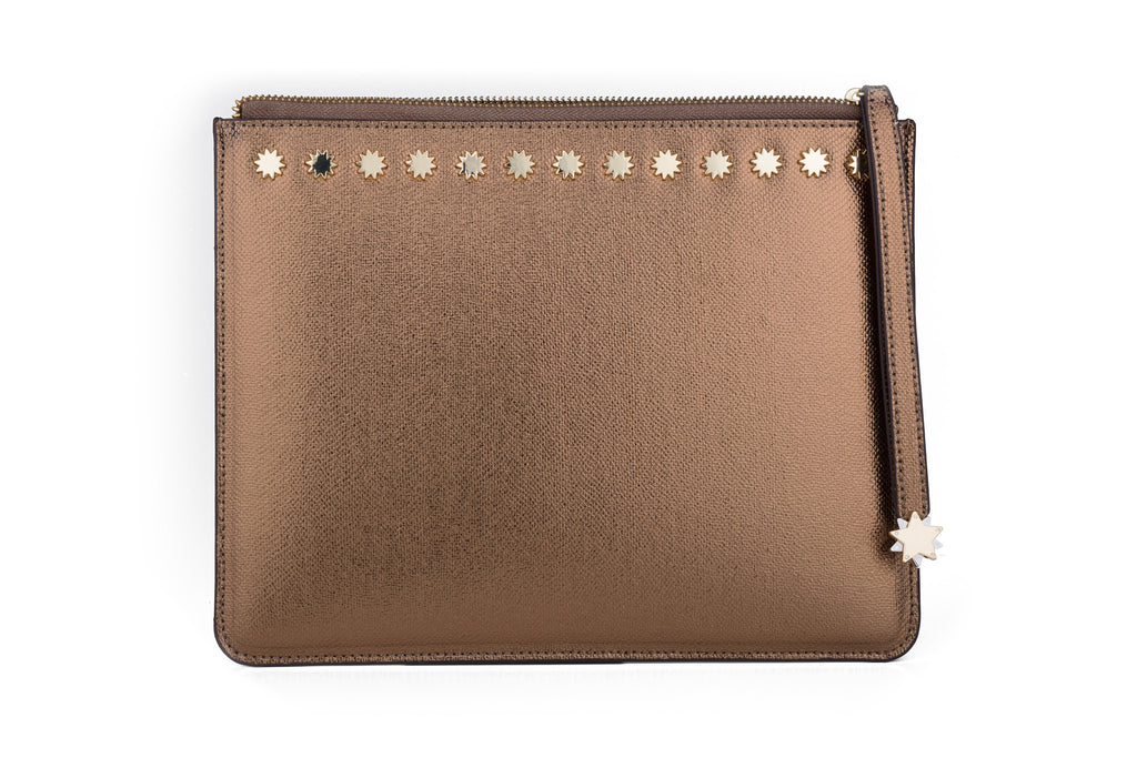 Brilliant Day & Night iPad Clutch Bronze