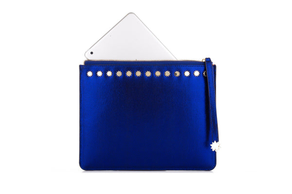 Brilliant Day & Night iPad Clutch Cobalt Blue