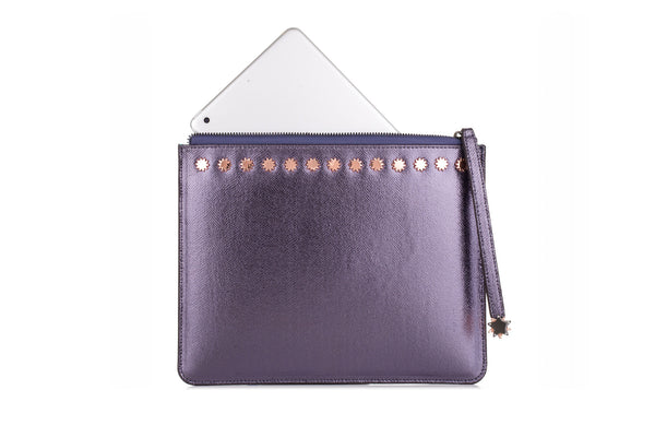 Brilliant Day & Night iPad Clutch Pewter
