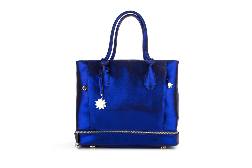 Brilliant On-the-Go Tote & Matching Clutch Cobalt Blue