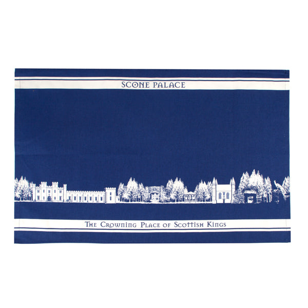 Scone Palace Tea Towel Navy