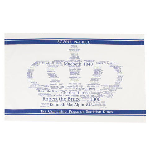 Kings Crown Tea Towel Navy