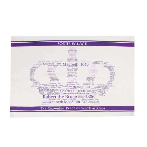 Kings Crown Tea Towel Purple