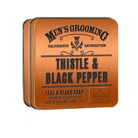 Thistle and Black Pepper Face & Beard Soap 100g