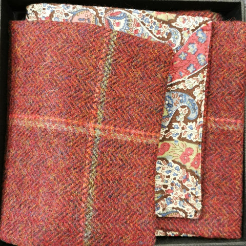 Harris Tweed and Liberty Cotton Scarf