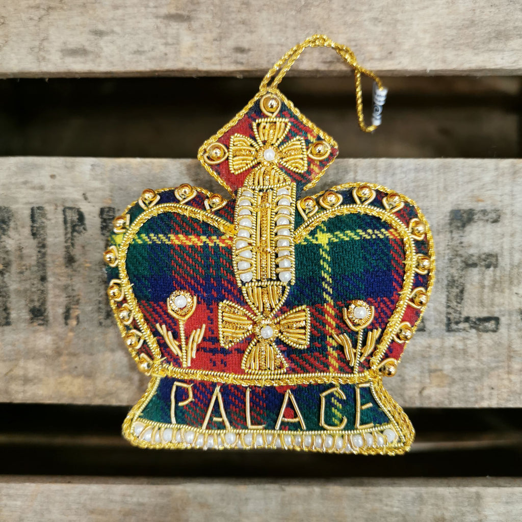Scone Palace Tartan Crown Decoration
