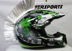 Motorcycle Dirt Bike Peel Stick Velcro Helmet Mohawks