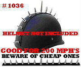 Metal Motorcycle Helmet Peel and Stick Spike Strips Mohawks Click For More Styles
