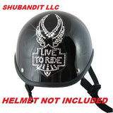 Helmet Bling Rhinestone Sticker Patches Click For More Styles