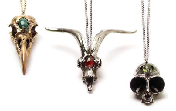 Gemstone Skull Pendants