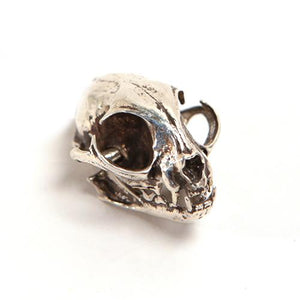Bronze Domestic Cat Animal Skull Pendant by Fire & Bone