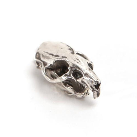 Silver Brown Rat Animal Skull Pendant by Fire & Bone