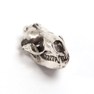 Silver Leopard Seal Animal Skull Pendant by Fire & Bone