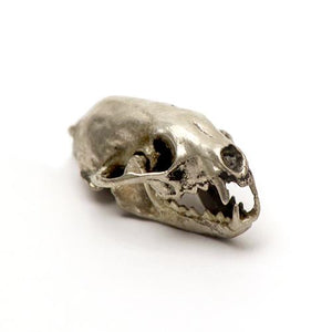 Bronze American Pine Marten Animal Skull Pendant by Fire & Bone