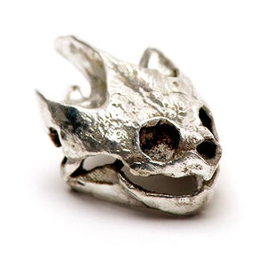 Silver Snapping Turtle Animal Skull Pendant by Fire & Bone