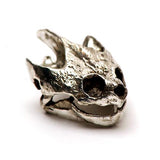Bronze Snapping Turtle Animal Skull Pendant by Fire & Bone