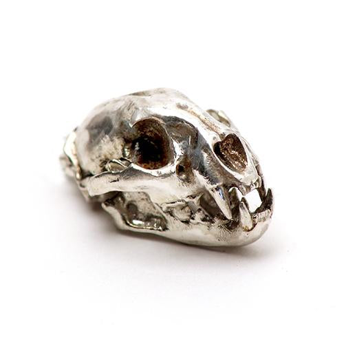 Silver Mountain Lion Animal Skull Pendant by Fire & Bone