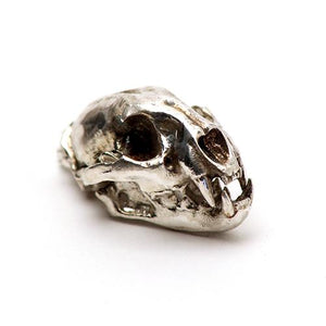 Bronze Mountain Lion Animal Skull Pendant by Fire & Bone