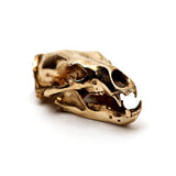 Bronze Polar Bear Animal Skull Pendant by Fire & Bone
