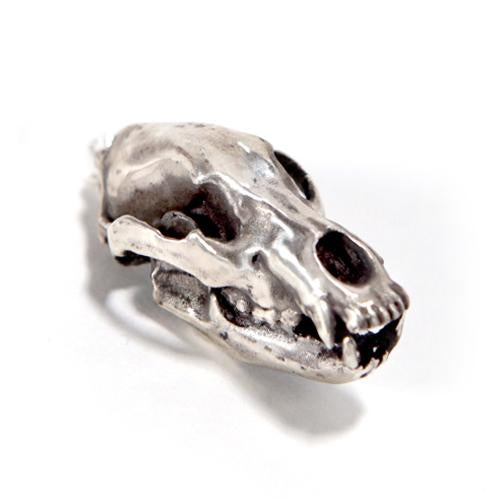 Silver Cave Bear Animal Skull Pendant by Fire & Bone