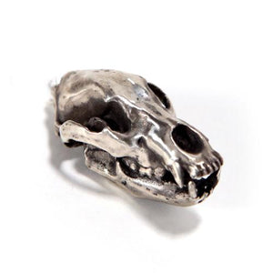 Bronze Cave Bear Animal Skull Pendant by Fire & Bone