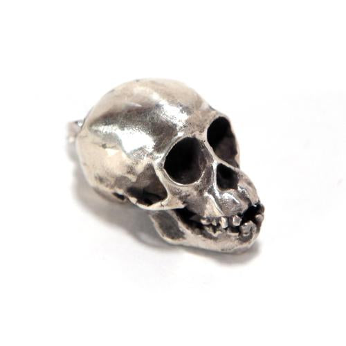 Silver Chimpanzee Animal Skull Pendant by Fire & Bone