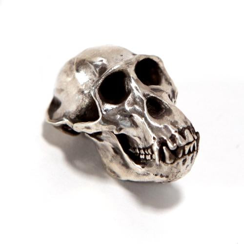 Silver Western Gorilla Animal Skull Pendant by Fire & Bone