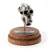 Bronze Western Gorilla Animal Skull Pendant by Fire & Bone