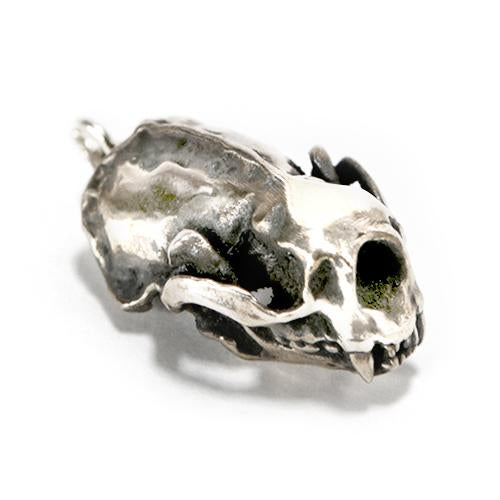 Silver Sea Otter Animal Skull Pendant by Fire & Bone