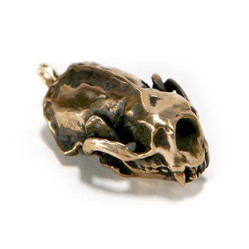 Bronze Sea Otter Animal Skull Pendant by Fire & Bone