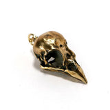 Bronze House Sparrow Animal Skull Pendant by Fire & Bone