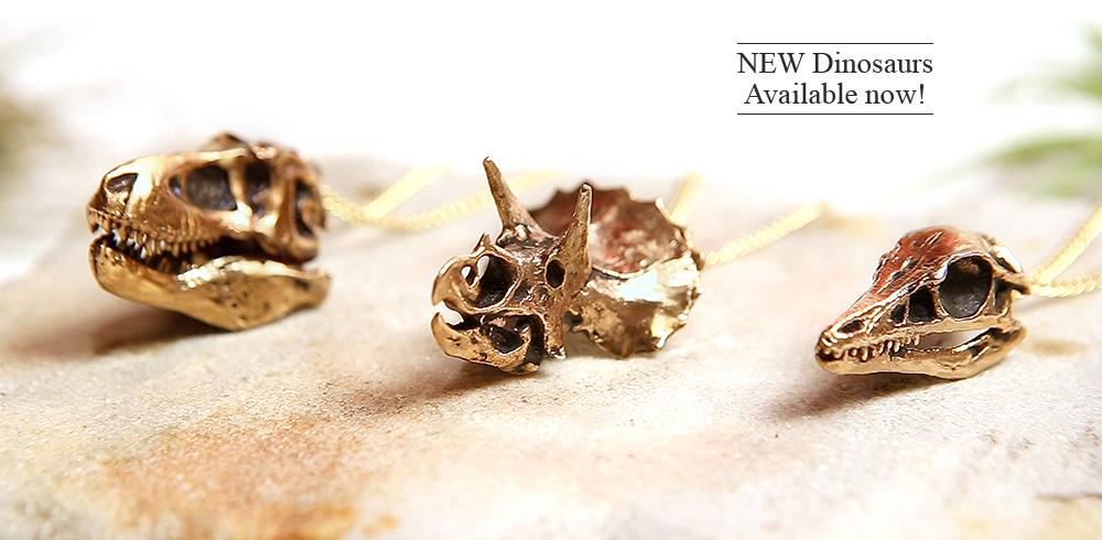 Fire & Bone Animal Skulls and Fossils Natural History Jewelry