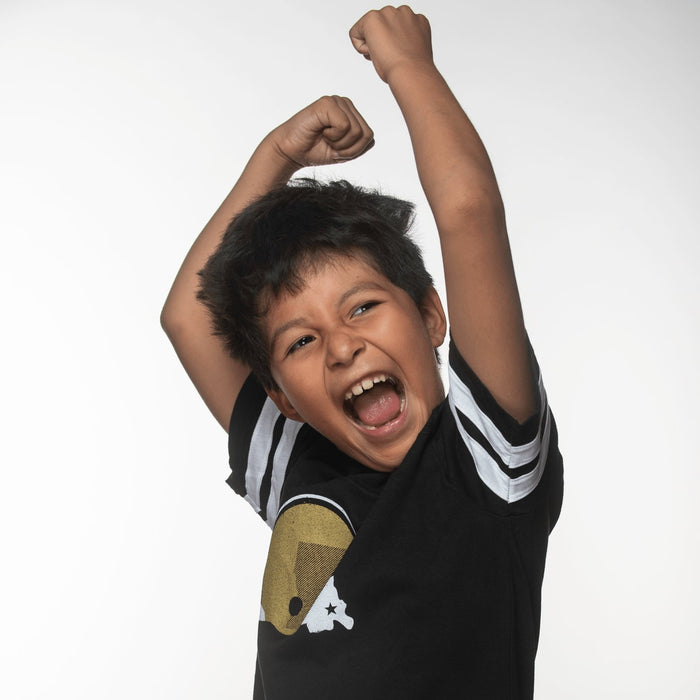 Black & Gold United Kids Jersey - Dirty Coast Press