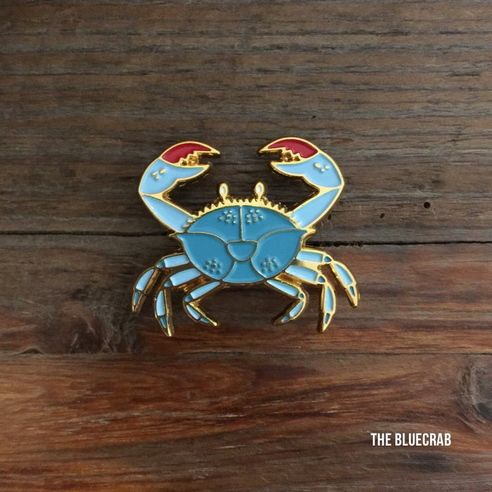 Blue Crab Enamel Pin - Dirty Coast Press