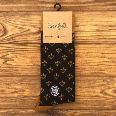 Bonfolk Socks - Black and Gold - Dirty Coast Press