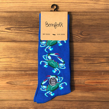 Bonfolk Socks - Blue Crab - Dirty Coast Press
