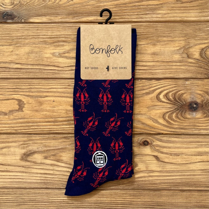 Bonfolk Socks - Crawfish - Dirty Coast Press