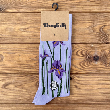 Bonfolk Socks - Iris - Dirty Coast Press