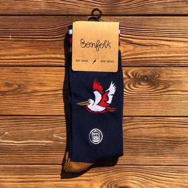 Bonfolk Socks - Pelican - Dirty Coast Press