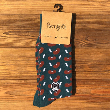 Bonfolk Socks - Red Beans - Dirty Coast Press