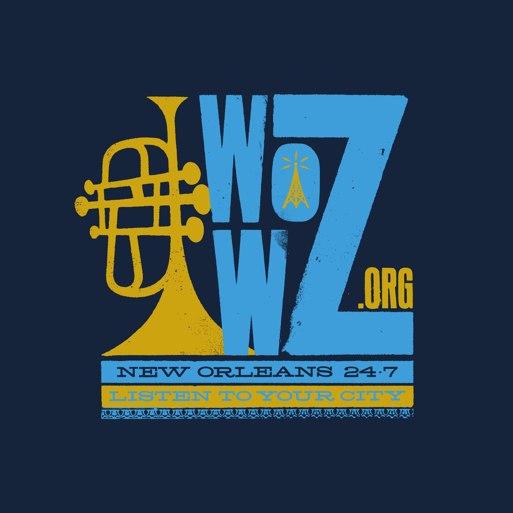 Dirty Coast Press Shirt WWOZ Listen to Your City