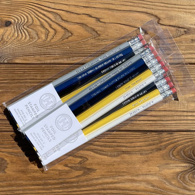 Foil Stamped Pencil Set by HUCKLEBERRY LETTERPRESS - Dirty Coast Press