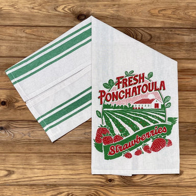 Fresh Ponchatoula Strawberries Tea Towel - Dirty Coast Press