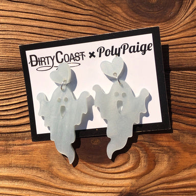 Ghost Earrings by Poly Paige - Dirty Coast Press