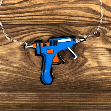 Glue Gun Necklace by Poly Paige - Dirty Coast Press