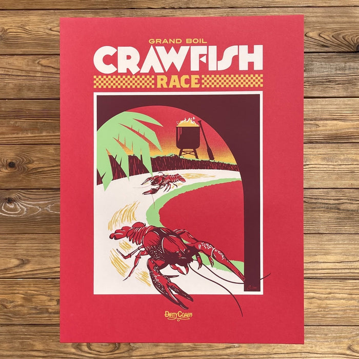 Grand Boil Crawfish Race Print - Dirty Coast Press