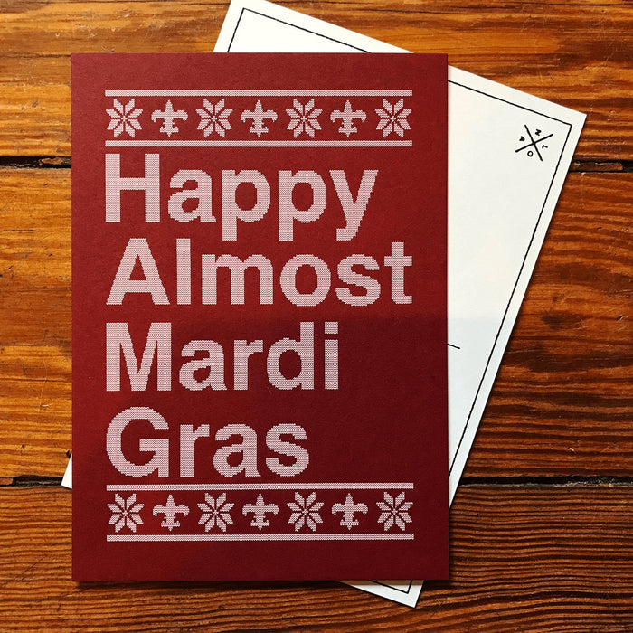 Happy Almost Mardi Gras Postcard - Dirty Coast Press