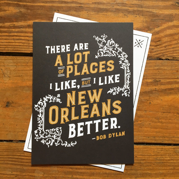 I like New Orleans Better Postcard - Dirty Coast Press
